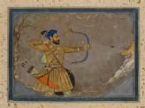 Sultan Ali Adil Shah II hunting a tiger