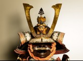 Helmet from a samurai's ceremonial suit of armour
