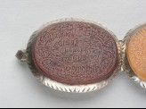 Oval bezel amulet from a bracelet, inscribed with the Throne verse