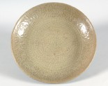 Greenware dish with peony decoration (LI1301.305)