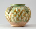Jar with appliqué arabesque decoration under a three colour glaze (LI1301.39)