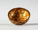 Bowl with three colour glaze