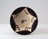 Black ware bowl with leaf decoration (LI1301.62)