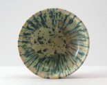 Bowl with blue splash decoration