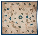 Silk hanging or tablecloth with pearl, stylized clouds, and four kirin, or horned creatures