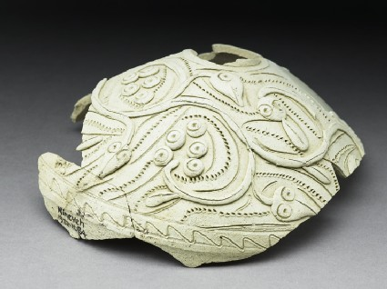 Fragment of a jug with vegetal decorationoblique