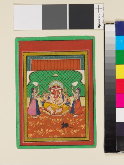 Seated Ganesha with attendantsfront