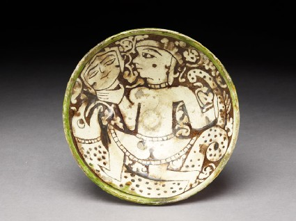 Bowl with female dancertop
