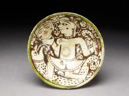 Bowl with female dancertop