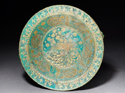 Bowl with eagle, arabesques, and kufic inscriptiontop