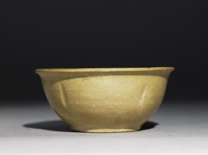 Greenware bowl with lobed body and rimside