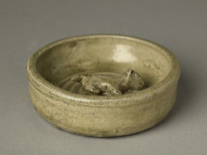 Greenware burial figure of animal in a penoblique