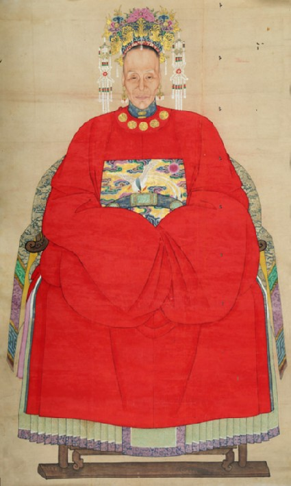 Woman in the dress of a wife of an official of the sixth rankfront