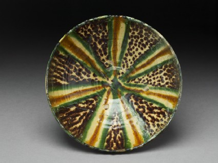 Bowl with polychrome splashed decorationtop