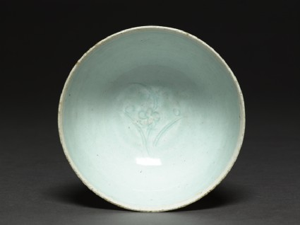White ware bowl with flowertop