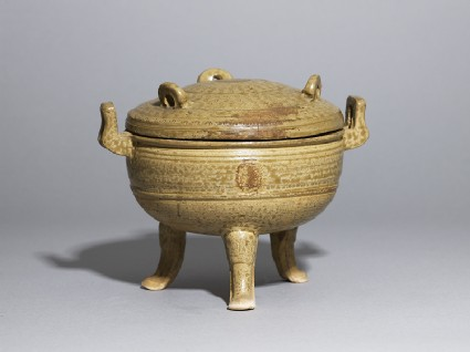 Greenware ritual food vessel, or dingside