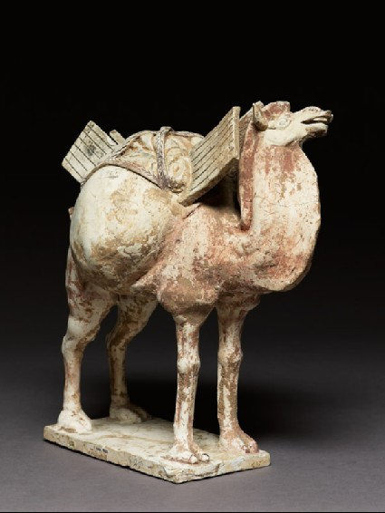 Earthenware figure of a cameloblique