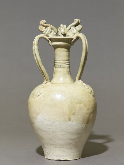 White ware amphora with handles in the form of dragonsside