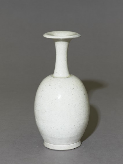 White ware bottle vaseoblique