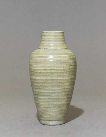 Greenware meiping, or plum blossom, vaseside