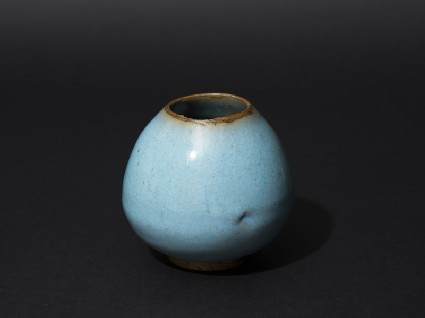 Jar with blue glazeoblique