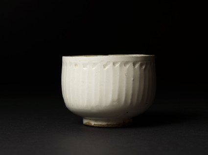 White ware bowl with straight sidesside