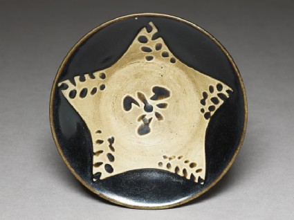Black ware bowl with startop