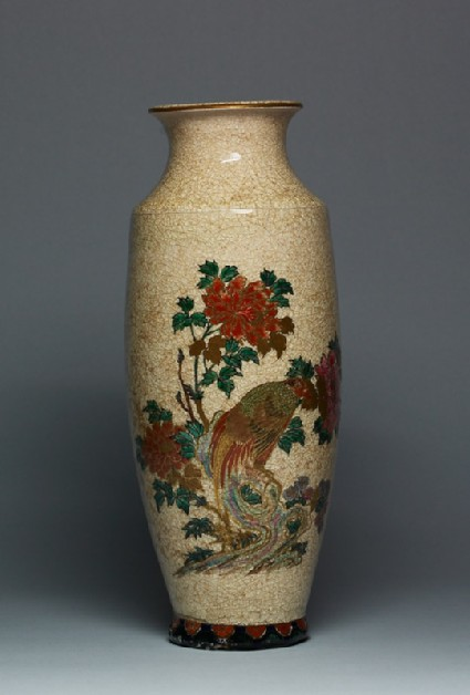 Satsuma vase with birds and flowersfront