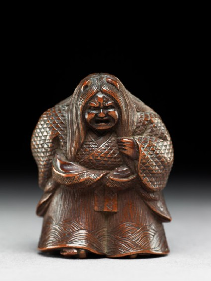 Netsuke in the form of Kiyohimefront