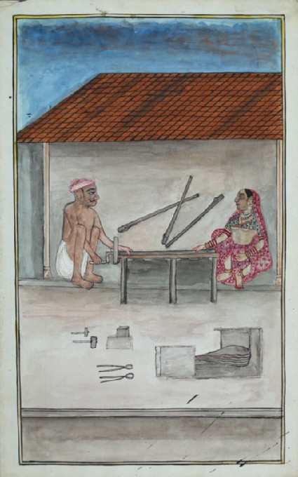 Man and woman in a workshopfront