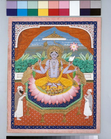 Vishnu on a lotus petal thronefront