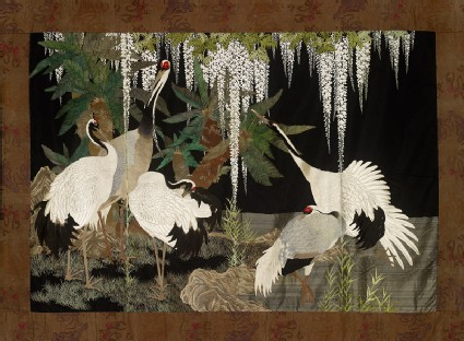 Cranes, cycads, and wisteriafront, Cat. No. 19