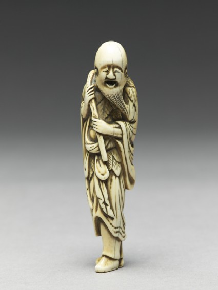 Netsuke in the form of Sennin, a Daoist immortalside