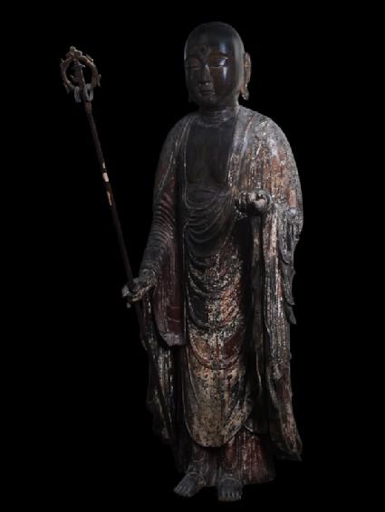 Figure of the bodhisattva Jizōside