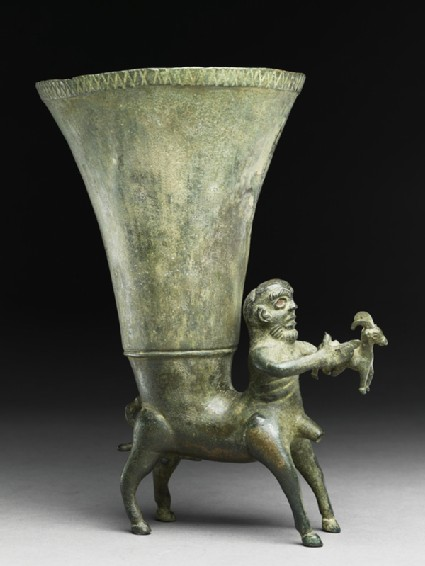 Rhyton in the form of a centaurside