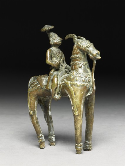 Figure of a deity or warrior-hero on a horseoblique