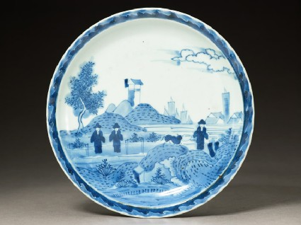 Plate with 'Deshima Island' themetop