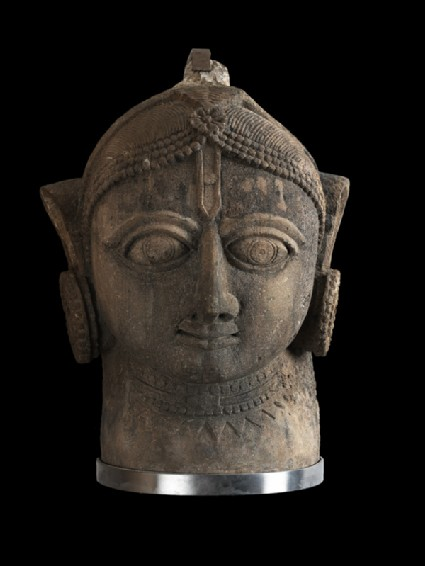 Head of a yogini or goddessfront