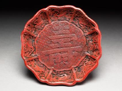 Dish with auspicious symbolstop
