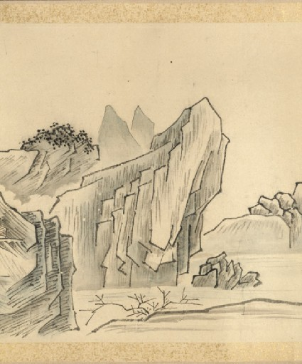 Nine bends of the Jiuquxi River in the Wuyi mountainsdetail