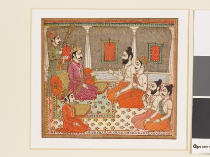Prince with holy men or Brahminsfront