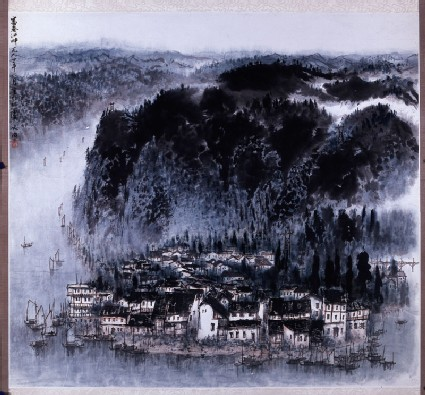 Fuchun Riverfront, painting only