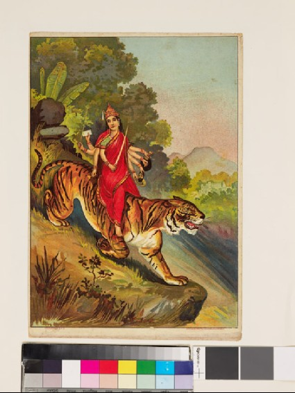 Devi mounted on her tigerfront
