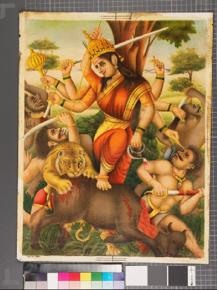 The goddess Devi slaughtering her enemiesfront