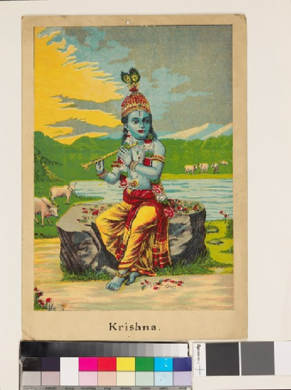 Krishna playing his flutefront