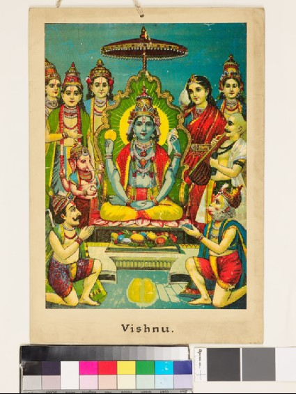 Vishnu leaves two golden footprintsfront