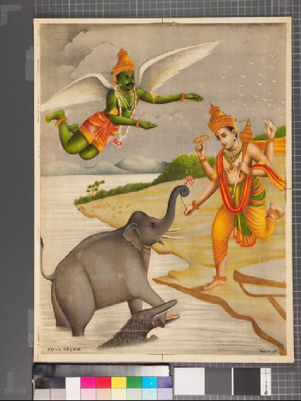 Death of the King of the Elephants, or Gajendramokshafront