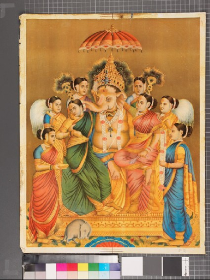 Ganapati, or Ganesha, surrounded by the eight nayakasfront
