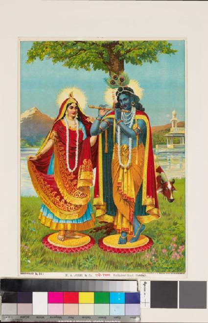 Radha with Krishna the Flautist, or Muralidhara-Krishnafront
