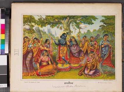 Rasa-lila, the dance of Krishna and the gopisfront